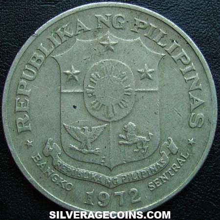 1972 Philippines 1 Piso Silveragecoins Com