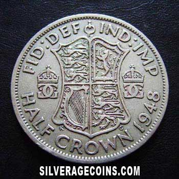 1948 George Vi British Half Crown Silveragecoins Com