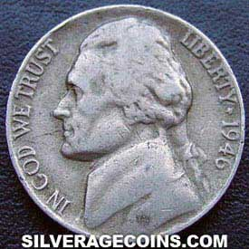 1946 United States 5 Cents Quot Jefferson Nickel