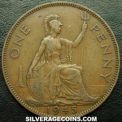1945 George VI British Bronze Penny