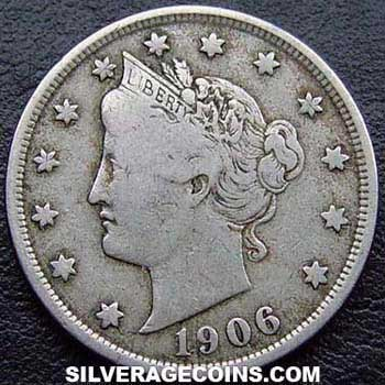 1906 United States 5 Cents Quot Liberty Head Nickel