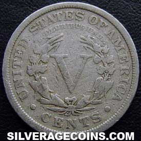 "5 Centavos ""Liberty Head Nickel"" Estadounidenses de 1912"