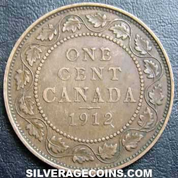 1912 George V Canadian Bronze Cent