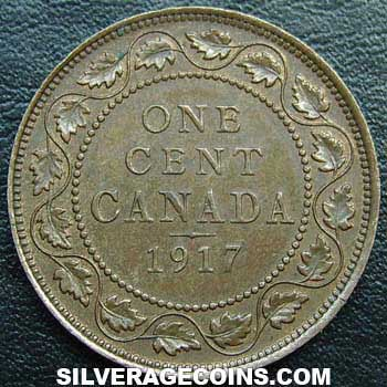 1917 George V Canadian Bronze Cent