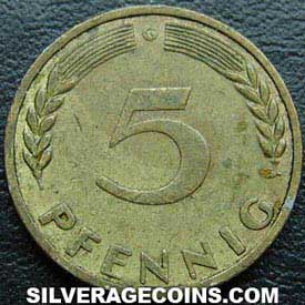 1950G German Federal Republic 5 Pfennig