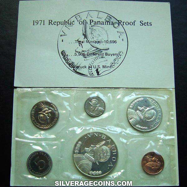 1971 (6) Proof Republic of Panama Proof Set