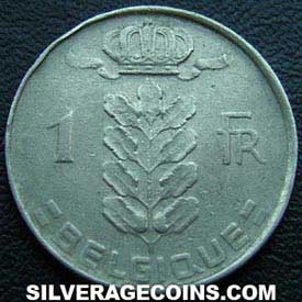 1955 Belgian Franc (French, coin alignment)