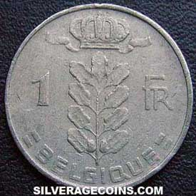 1962 Belgian Franc (French, coin alignment)