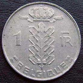 1972 Belgian Franc (French, coin alignment)