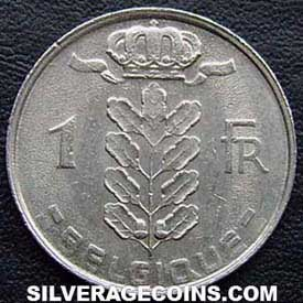 1980 Belgian Franc (French, coin alignment)