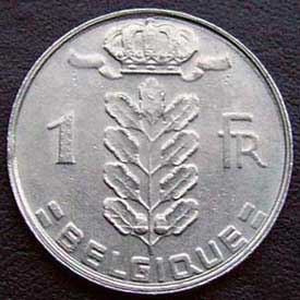 1988 Belgian Franc (French, coin alignment)