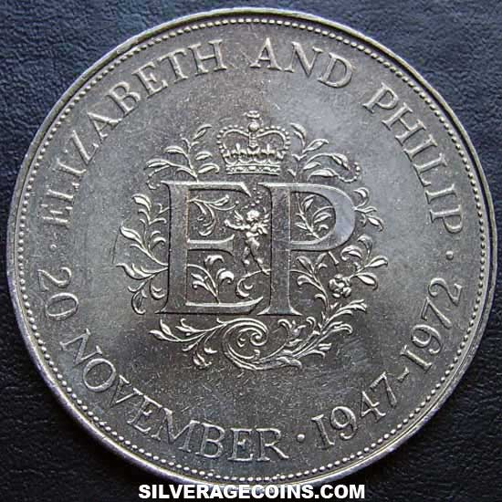 ND(1972) Elizabeth II British 25 New Pence (Silver Wedding)