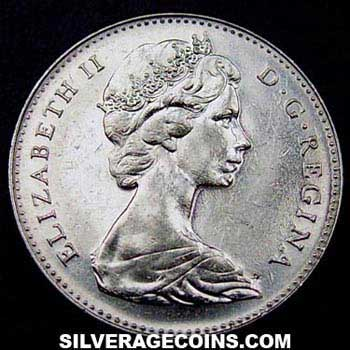 ND(1967) Elizabeth II Canadian 5 Cents (Confederation Centennial)