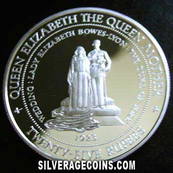 1994 Proof Seychelles 25 Rupees Silver Proof (Queen Mother)