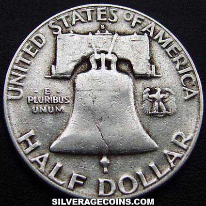 1954S United States Franklin Silver Half Dollar