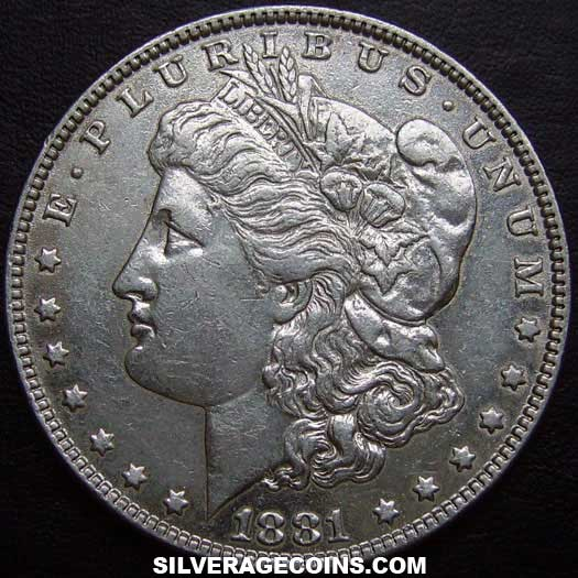 1881 United States Morgan Silver Dollar