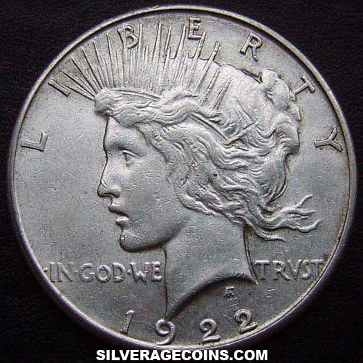 1922S United States Peace Silver Dollar