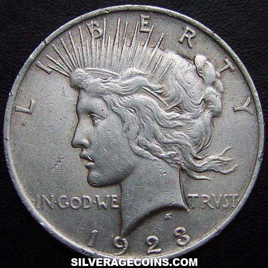 1923 United States Peace Silver Dollar