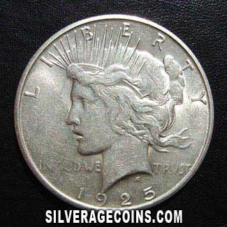 1925S United States Peace Silver Dollar