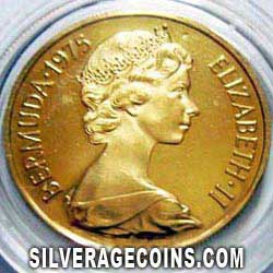 1975 Proof Bermuda Elizabeth II 100 Dollars Gold Proof (Royal Visit)