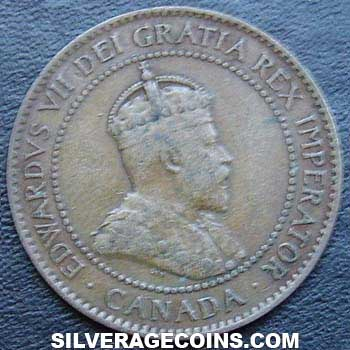 1907 Edward VII Canadian Bronze Cent