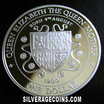 1994 Proof Cayman Islands Silver Proof Dollar (Queen Mother)