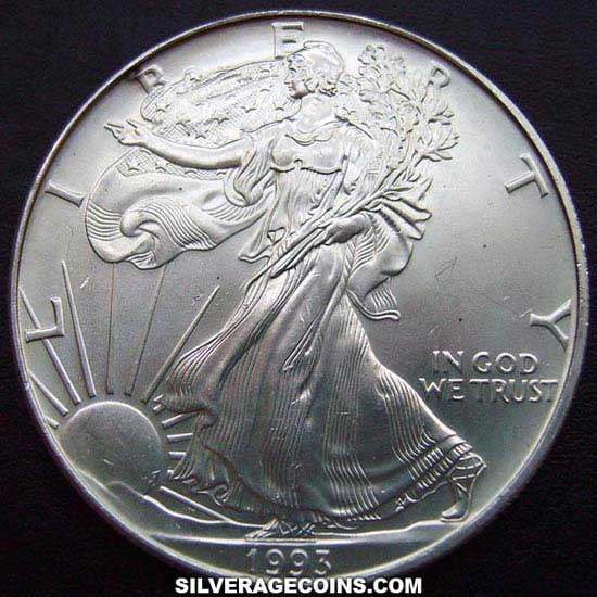 1993 United States Dollar 1 Ounce Silver Eagle