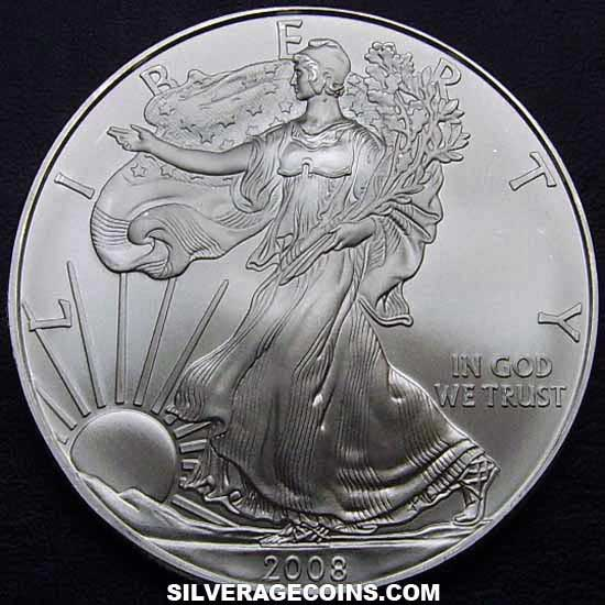 2008 United States Dollar 1 Ounce Silver Eagle