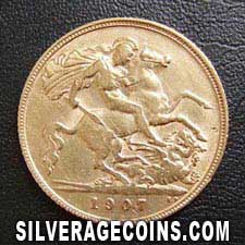 1907 Edward VII British Gold Half Sovereign