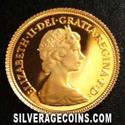 1980 Proof Elizabeth II British Gold Half Sovereign