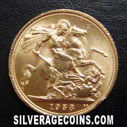 1958 Elizabeth II British Gold Sovereign