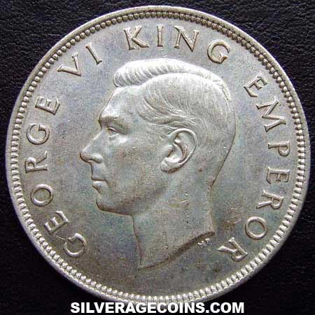 1940 George VI New Zealand Silver Half Crown (Centennial)