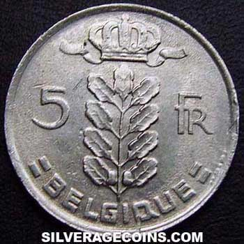 1978 Belgian 5 Francs (French, coin alignment)