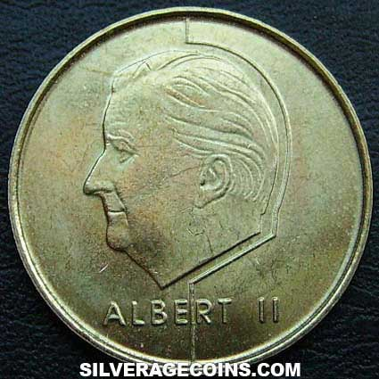 1998 Albert II Belgian 5 Francs (French)