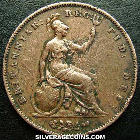 1853 Ornamental Queen Victoria British Quot Young Head Quot Penny