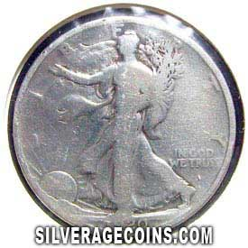 1920 United States Walking Liberty Silver Half Dollar