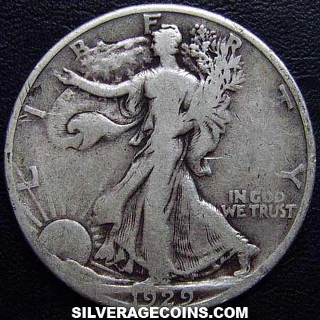 1929S United States Walking Liberty Silver Half Dollar