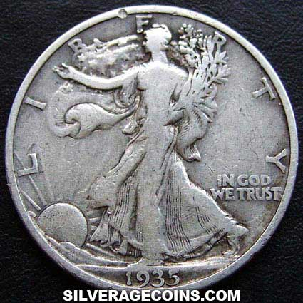 1935 United States Walking Liberty Silver Half Dollar