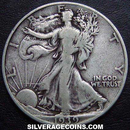 1939 United States Walking Liberty Silver Half Dollar