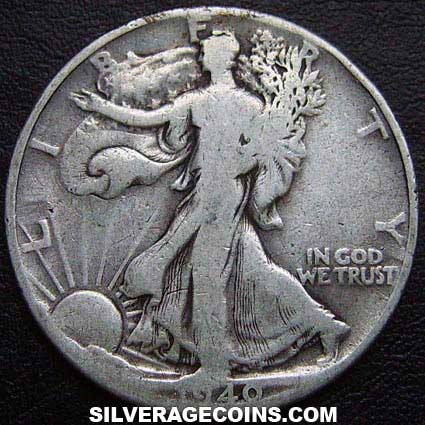 1940 United States Walking Liberty Silver Half Dollar