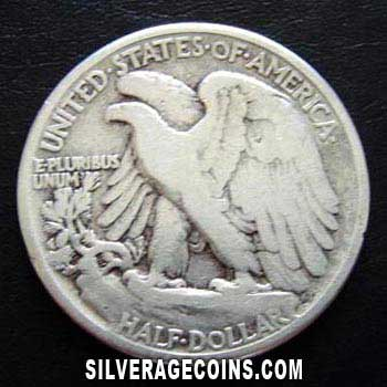 1942 United States Walking Liberty Silver Half Dollar