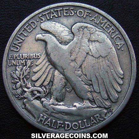 1944S United States Walking Liberty Silver Half Dollar