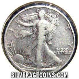 1941S United States Walking Liberty Silver Half Dollar