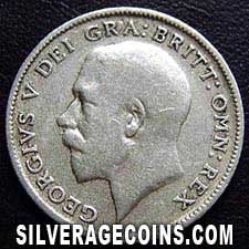 1921 George V British Silver Sixpence