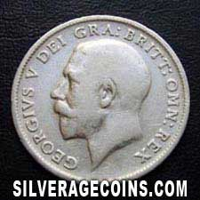 1916 George V British Silver Sixpence