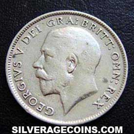 1918 George V British Silver Sixpence