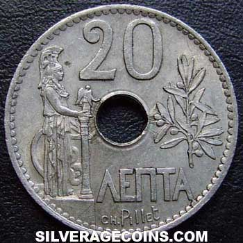 1912(a) George I Greek 20 Lepta