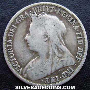 1896 Victoria British Silver Quot Widow Head Quot Shilling