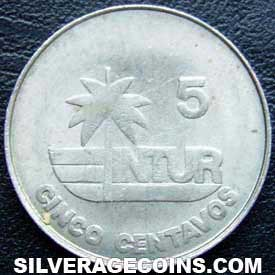 1981 thick 5 Cuban 5 Centavos (Visitor's coinage)