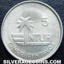 1981 thin 5 Cuban 5 Centavos (Visitor's coinage)